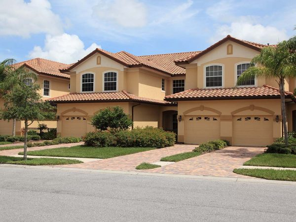 Beige homes in Vista