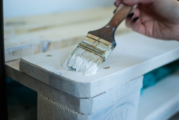 How to paint over varnished wood