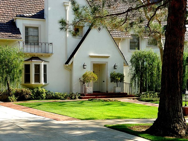 Another house exterior painted white