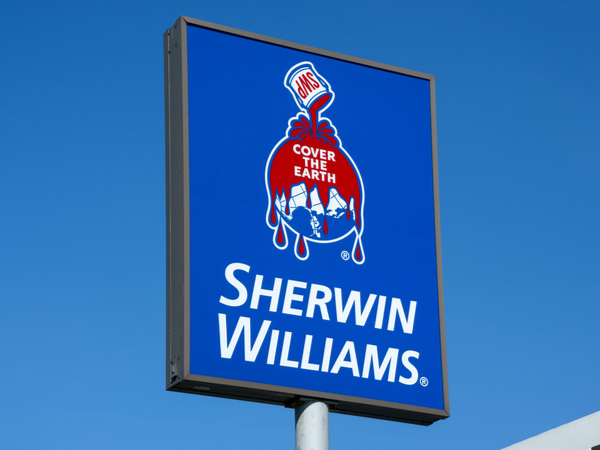 Sherwin Williams sign with logo